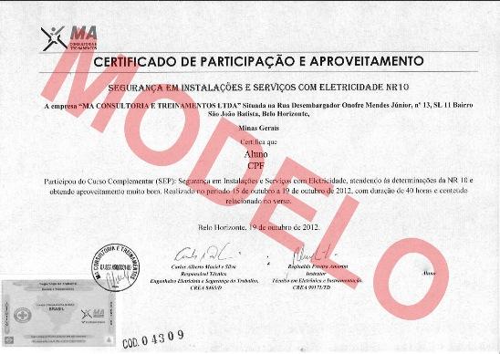 Certificado Nr 20 Inflamáveis E Combustíveis